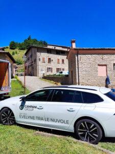 Evelyne tra le nuvole, le riprese nel borgo di Maillo a Castelnovo ne' Monti