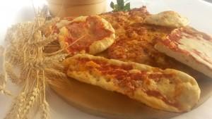 Pizze di varie tipologie e formati, Panificio Campari